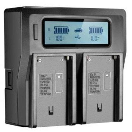 FB 970 Dual Battary Charger FB-DC-LCD-BP-U60